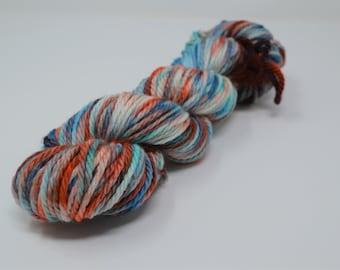 Cozy Bulky, hand dyed yarn, handdyed yarn, hand dyed bulky yarn, hand painted yarn, bulky yarn, bulky weight, Arizona Sky
