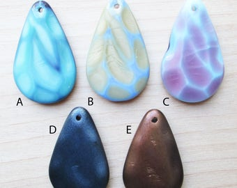 Teardrop Czech Glass Pendants