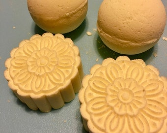 Two Bath Bombs & A bar of Handcrafted , Artisan Soap