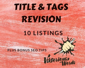 10 Etsy Product Listing Title Tags Revision SEO Help Copy Writing Service Keywords Etsy Top Shop Search Optimization Product Marketing Tips