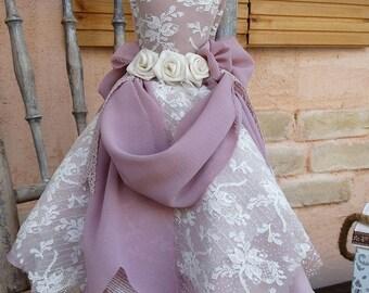 Decorative Dress, Dress Statue, Shabby Chic Dress Statue, Home Decor, Vintage Decor, Shabby Chic Decoration, Lila Dress, Decoration