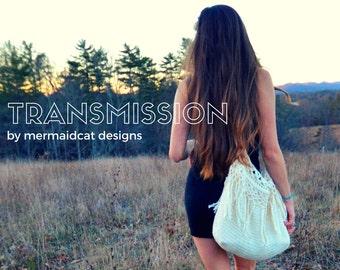 Crochet large fringe bag pattern - Transmission