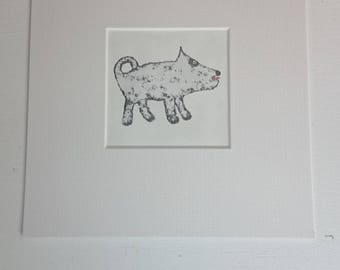 Dog Print (mounted)