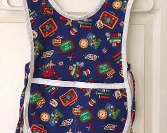Child's smock styled apron