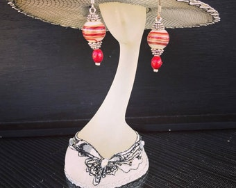 Handcrafted Bollywood style earrings