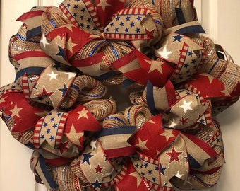 4th of July Wreath, Summer Wreath, Patriotic Wreath, Patriotic Decor,