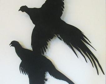 Pheasant, Metal Art,  Wall Hanging, Sportsman, Hunting,