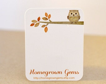 Owl Earring Cards Jewelry Display Customized Brown Branch