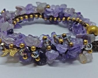 Amethyst bracelet handmade | Amethyst stone bracelet handmade