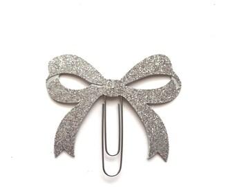Silver Bow Paper Clip