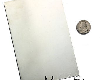 """Nickel Silver """"German Silver"""" Metal Sheet 5.875"""" x 3.875"""". 22 gauge thickness - Great for making your own blanks, charms or cut out shapes."""