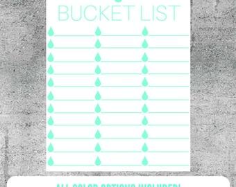 Printable Bucket List Checklist, Bucket List, Wishes, Adventures