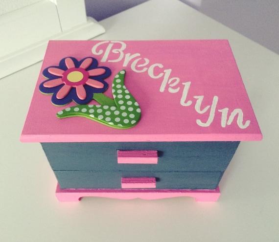 Girls jewelry box Kids jewelry box Children jewelry box