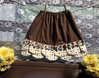Retro Polka Dot Petal Skirt