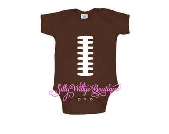 football bodysuit, baby football costume, baby football shirt, new baby outfit, home from hospital outfit