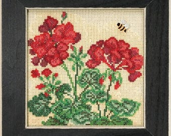 Mill Hill Buttons & Beads Spring Series Geranium MH14-1816 Counted Cross Stitch Kit