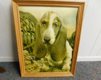 Fabulously Vintage 3D Basset Hound Dog Wall Hanging From The Quirky 70's