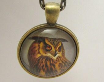 Owl Necklace, Owl Pendant, Owl Jewelry, Owl Charm, Glass Necklace, Necklace, Glass Pendant, Pendant, Glass Charm, Charm, Owl Lover Gift