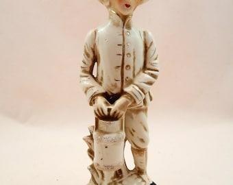 Vintage Figurine Farm Milk Man Japan F524