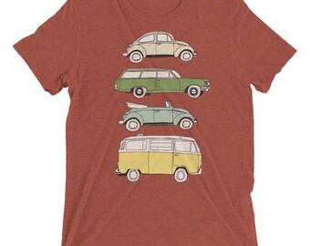 Retro VW Cars Short sleeve t-shirt