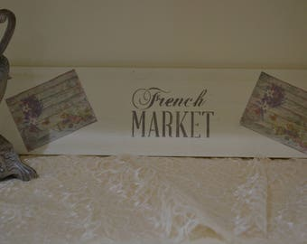 """French Market Sign 5.5""""x22"""""""