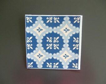 Decorative square of cement adhesive