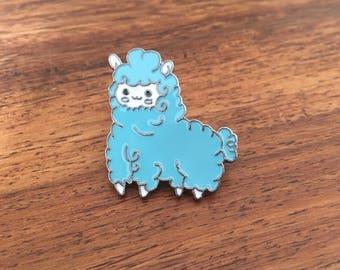 Blue Alpaca - Enamel badge