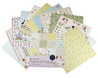 Set of 24 cards, two pockets 30 x 30 cm PAPPERS and FRIENDS