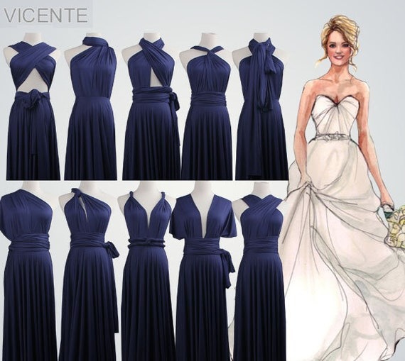 Bridesmaid Dresses Navy Blue Bridesmaid GiftsMaxi Navy Blue