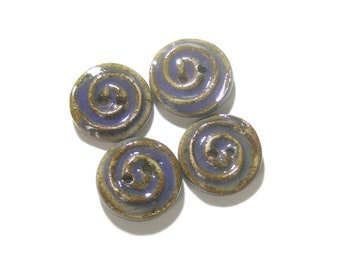 Purple Brown Buttons, MADE TO ORDER (7), Small Buttons, Swirl Buttons, Sweater Buttons, Ceramic Buttons, Artisan Buttons , Texture Buttons