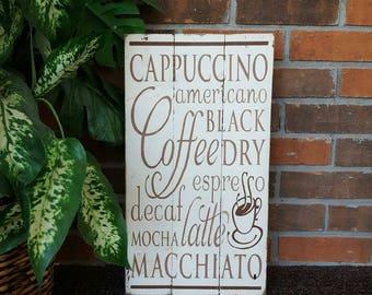 Coffee Shop Sign - Kitchen Decor - Kitchen Signs - Coffee Shop decor - Rustic Kitchen Decor - Kitchen Wall Art - Kitchen Signs - Signs
