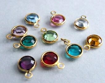 Swarovski Charm on Gold Filled Jump Ring, Swarovski Crystal Add On, Design Your Own Necklace, Birthstone Charm, Personalized Charm
