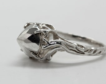 Sterling silver Ice Princess Ring   NYC Blue Bayer Design