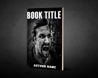 "Premade Ebook Cover ""Teeth"" Fiction  ZomPoc Horror GrimDark Splatter Zombie"