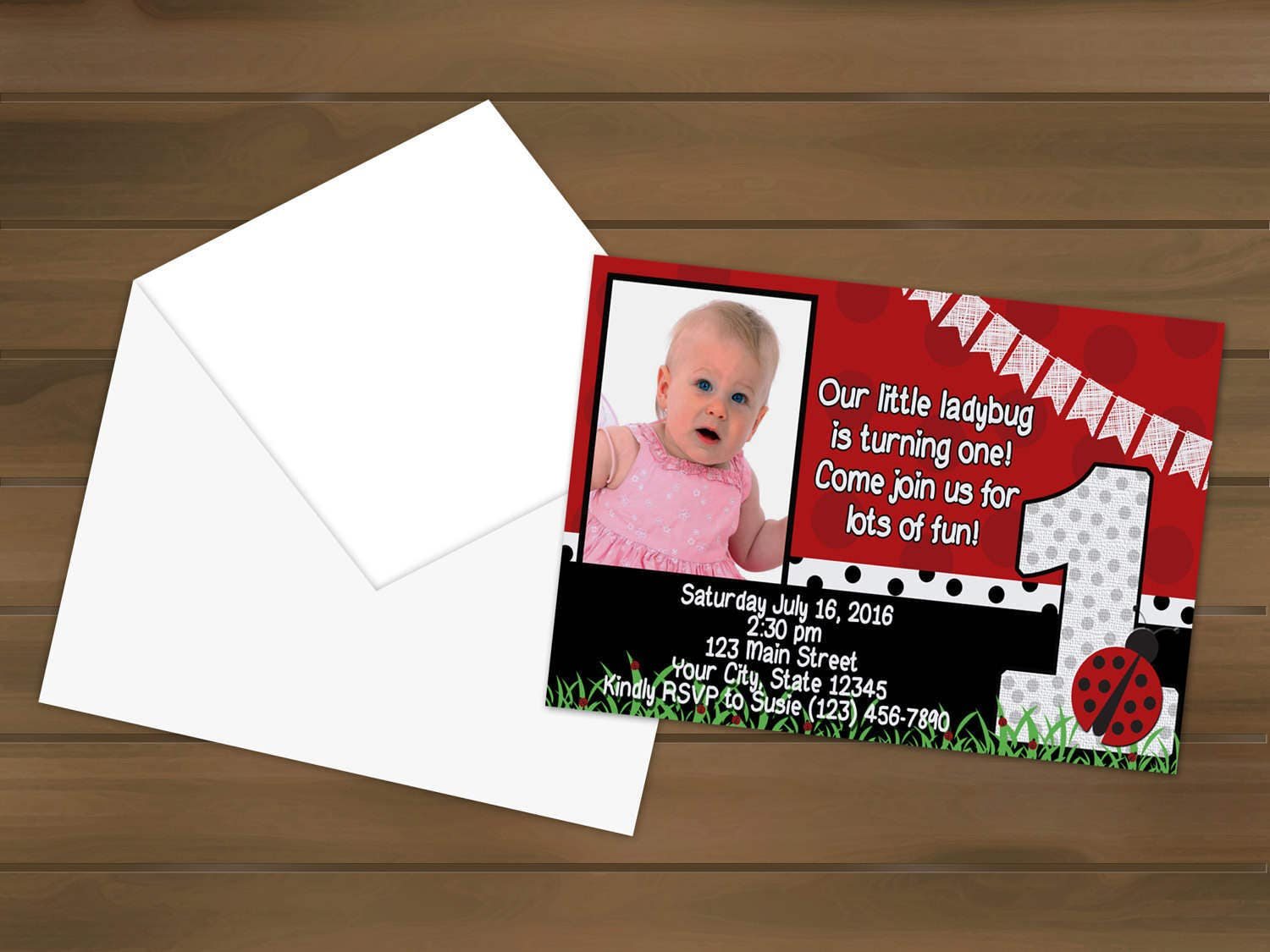 Ladybug first birthday invitations ladybug party ladybug ladybug first birthday invitations ladybug party ladybug birthday first birthday ladybug invites birthday invitation filmwisefo Choice Image
