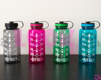 Water Tracker/Personalized 34 oz Wide Mouth Water Bottle
