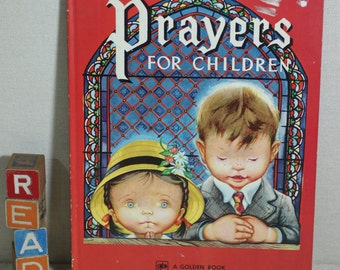Prayers for Children Large HC Golden Book Eloise Wilkin