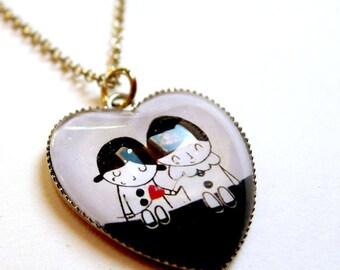 Corazón del collar, los amantes de las estrellas COe106