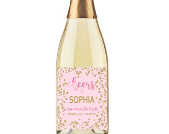Personalized Champagne Labels, Bridal Shower Champagne Labels, Printable Wine Labels, Printable Bridal Shower Gifts, Bridal Shower Favors