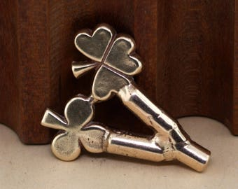 Double Clover Pattern, Clover Jewelry, Sand Casting Tools, Jewelry Making Tool, Casting Equipment, Casting Tool, Delft Clay, Petrobond