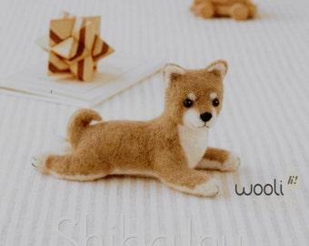 Miniature Shiba Needle Felting Kit