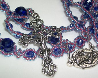 Five Decade Rosary - Faceted Czech Glass