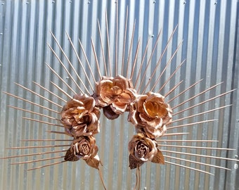 Rose Gold Halo Headdress