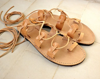 Leather gladiator sandals/ Lace up sandals/ Womens sandals/ Beach shoes/ Ancient Greek sandals/ Spartan sandals/ Genuine leather sandals