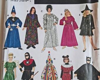 Wizard, Princess, Minnie Mouse, Child Witch, Batman, Clown, Fairy, Ax Man, Simplicity Sewing Pattern, Boys, Child, Girls, Halloween Costumes