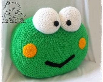 Frog Pillow - PDF Crochet Pattern - Instant Download