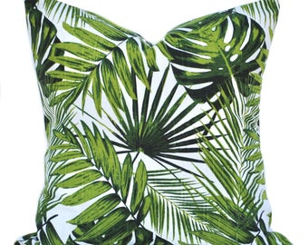 One Tropical pillow cover, cushion, decorative throw pillow, Palm tree pillow, accent pillow, Palm  pillow, pillow case