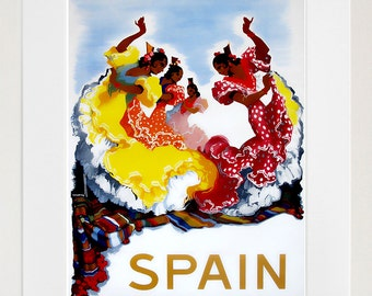 Art Spain Poster Vintage Spanish Travel Print Wall Decor (ZT435)