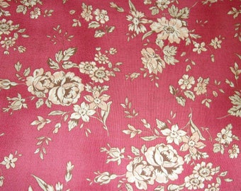 Tissu Patchwork Roses romantiques Quilt Gate Mary Rose Collection