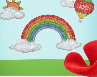 Rainbow Wall Sticker Decal Wall Mural for Girls Room